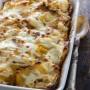 Pasta pasticciata con crema di zucca e pancetta