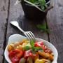 Peperoni e cipollotti in agrodolce