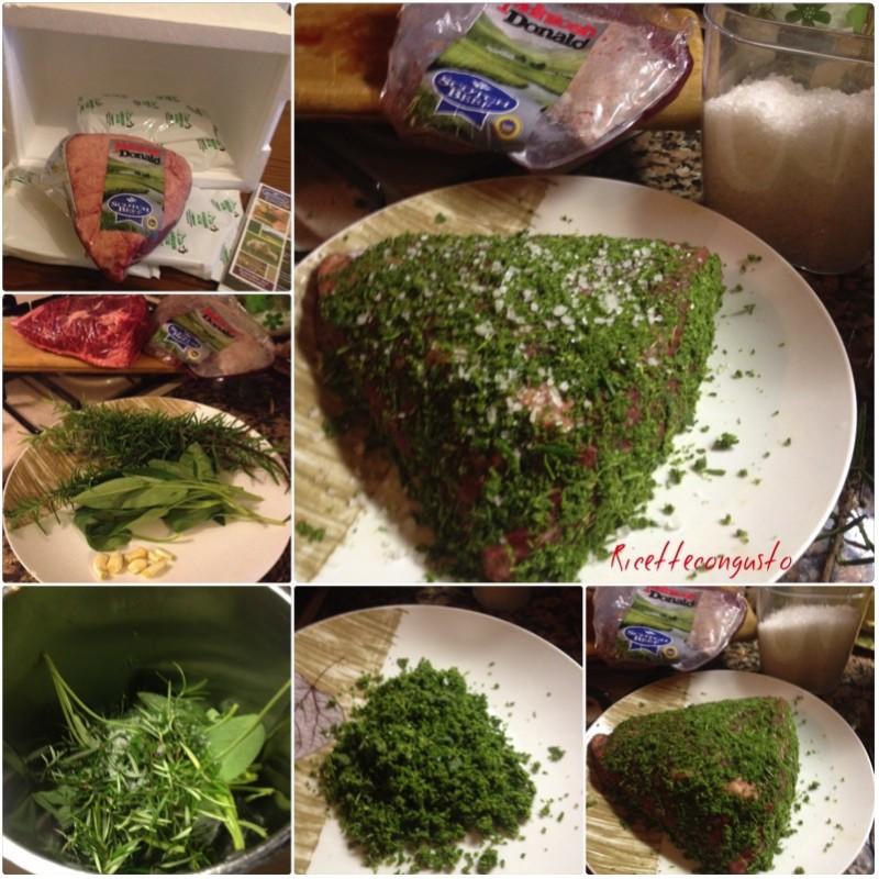 Picanha di manzo alla piastra con zucchine