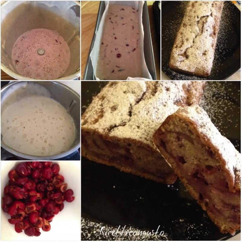 Plumcake con le ciliegie senza uova e latte
