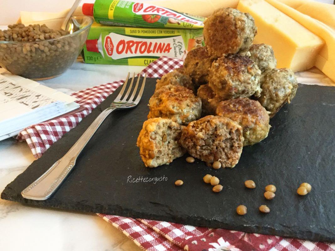 Polpette di carne e lenticchie