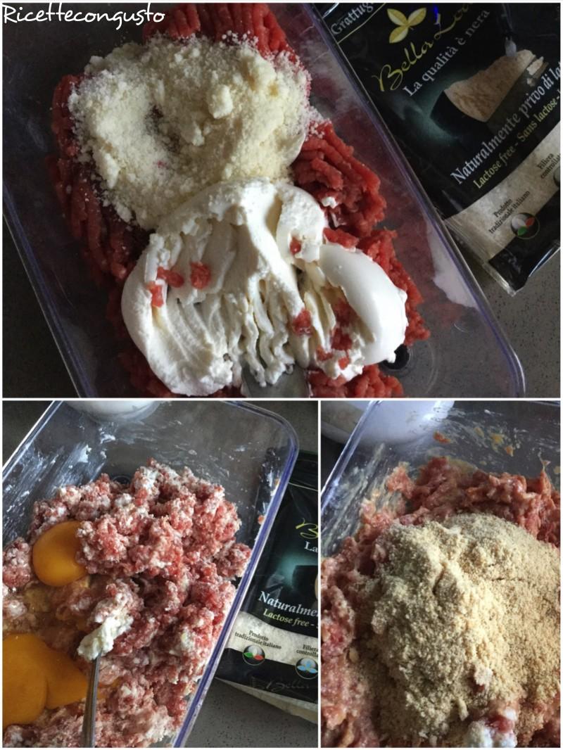 Polpette di carne con formaggio e ricotta