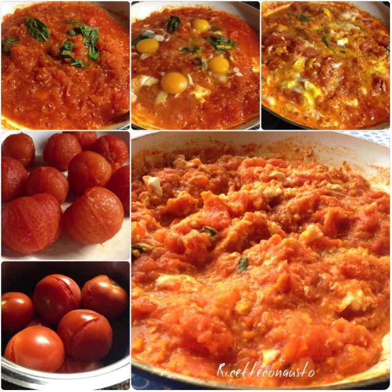 Pomodori fritti con le uova