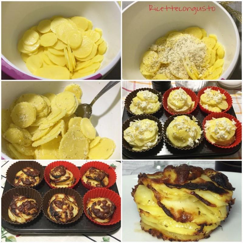 Torretta di patate e parmigiano