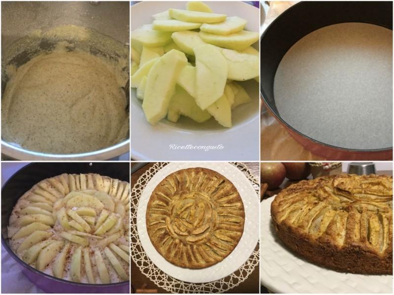 Torta di mele e cannella con yogurt e farina di grano saraceno