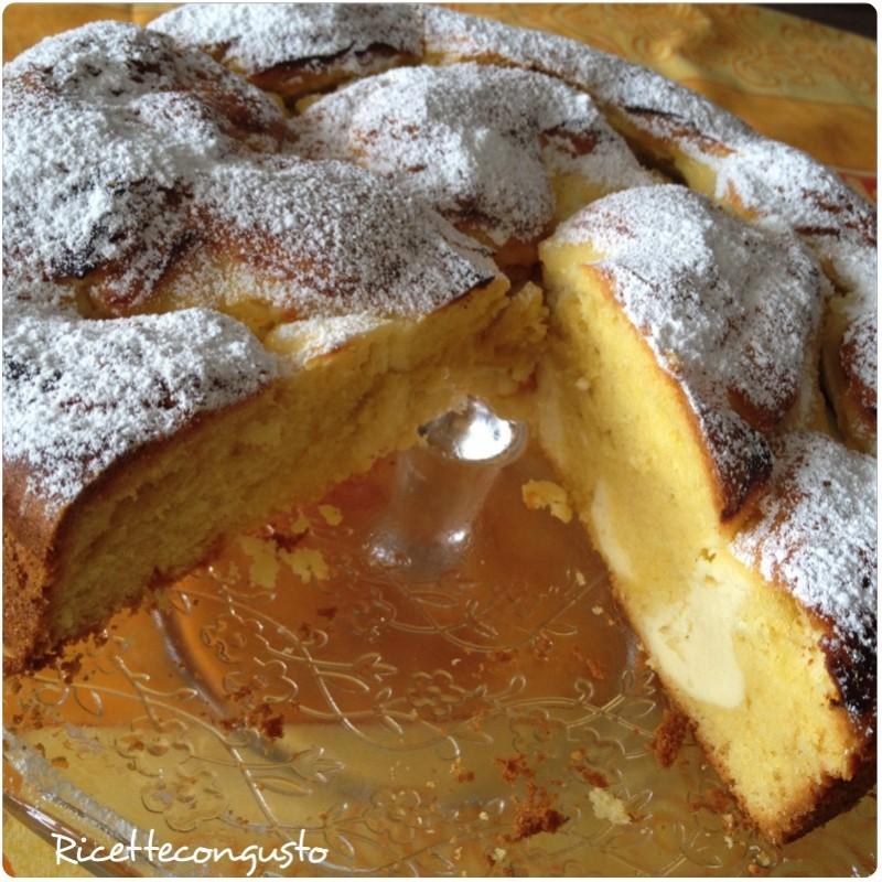 Torta Nua alla ricotta e marmellata di arance amare