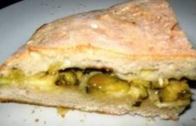 Torta rustica di porri e zucchine