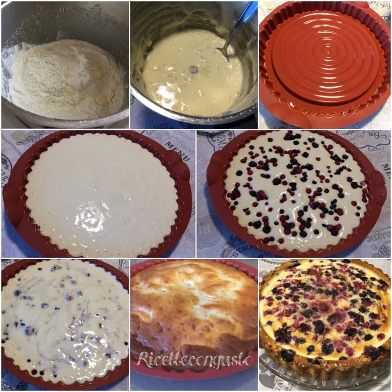 Torta allo yogurt con crema al mascarpone e frutti di bosco