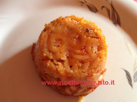 Mini timballo di anelletti al forno