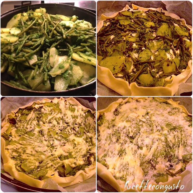 Tortino di asparagi e patate
