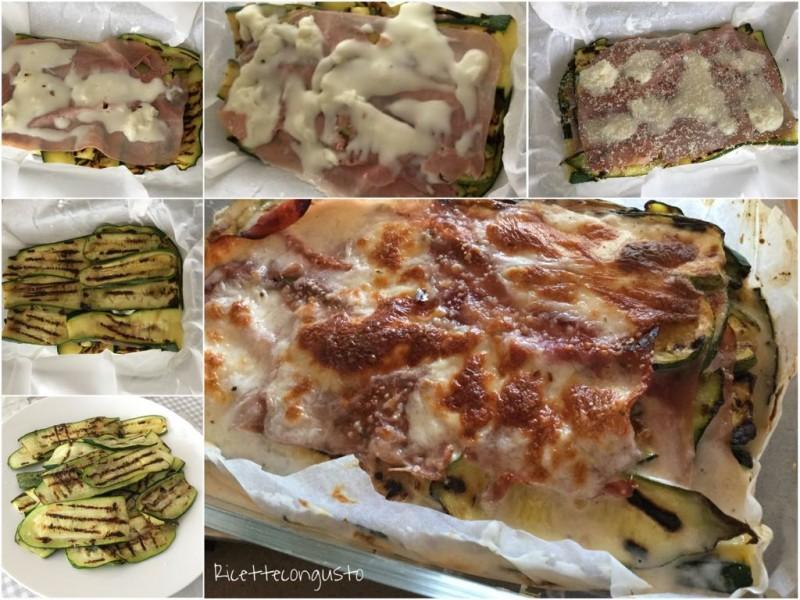 Tortino di zucchine con prosciutto e stracchino
