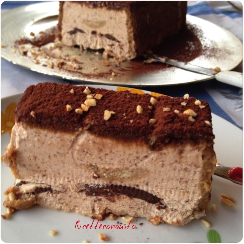 Tronchetto gelato al caffè e cioccolato