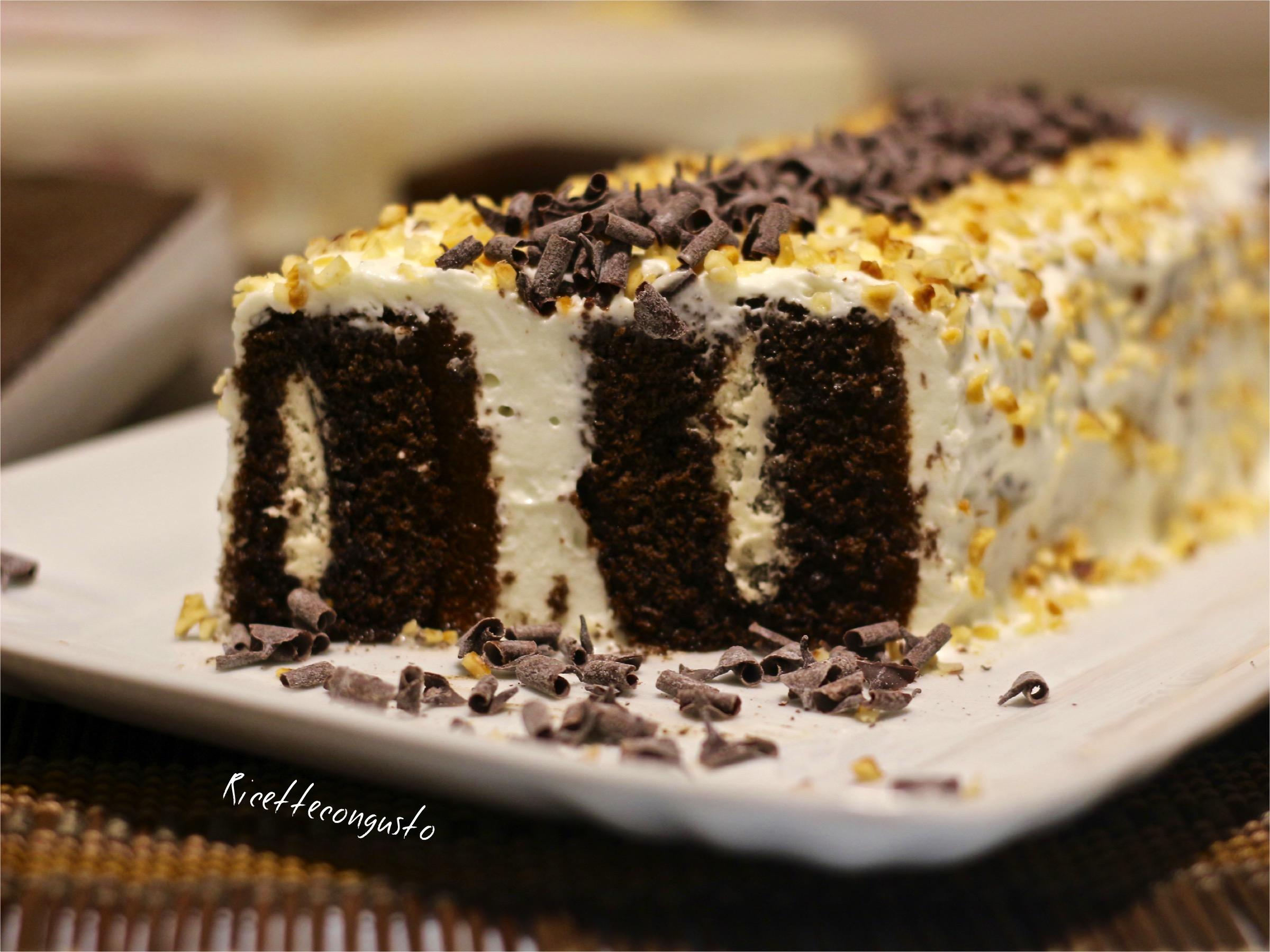 Tronchetto al cioccolato e panna velocissimo