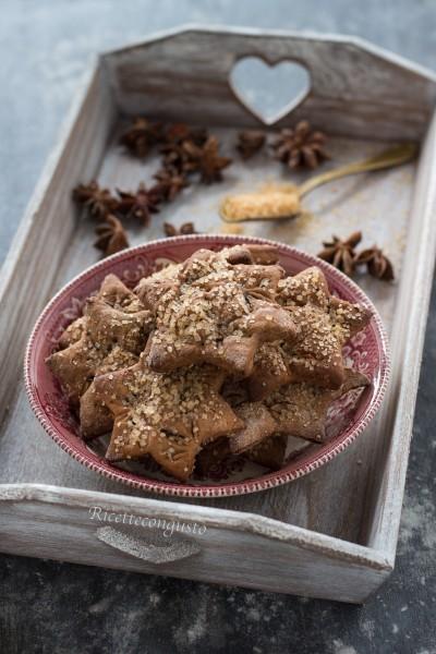 Biscotti al cioccolato di frolla alla ricotta al profumo di arancia e anice stellato
