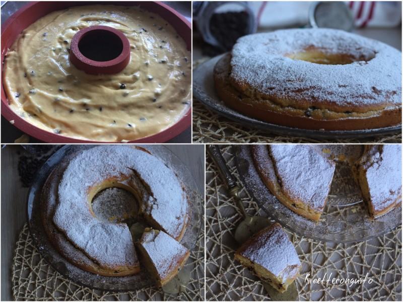 Ciambella con farina di mais e gocce di cioccolato