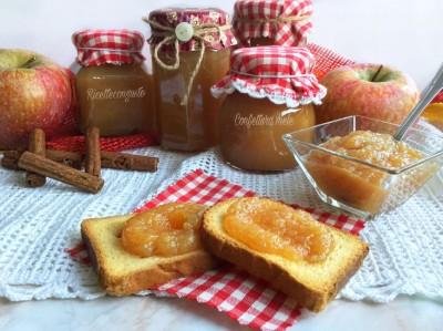 Confettura alle mele e cannella con fruttosio