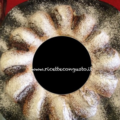 Corona di pan brioche alla nutella