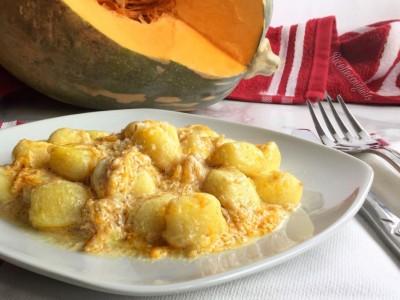 Gnocchi con zucca e formaggio caprino