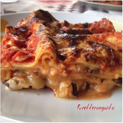 Lasagne con melanzane alla parmigiana