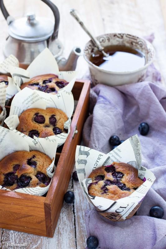 Muffins senza glutine  ai mirtilli