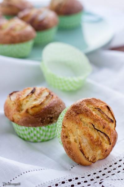 Muffins morbidi mele e cannella