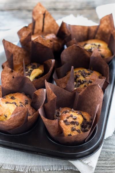 Muffins pere e gocce di cioccolato