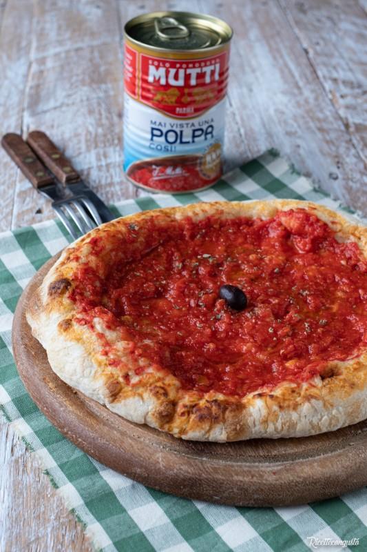 Pizza come in pizzeria cottura fornetto o pietra