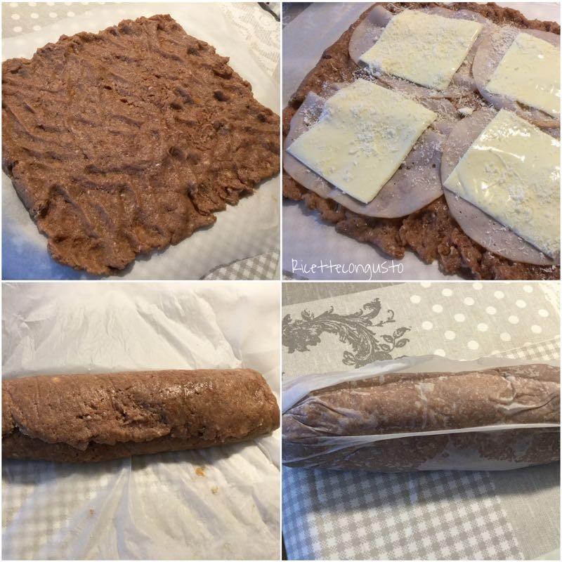 Polpettone di carne con tacchino e formaggio