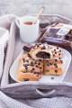 Saccottini di pan brioche alla ricotta e cioccolato fondente