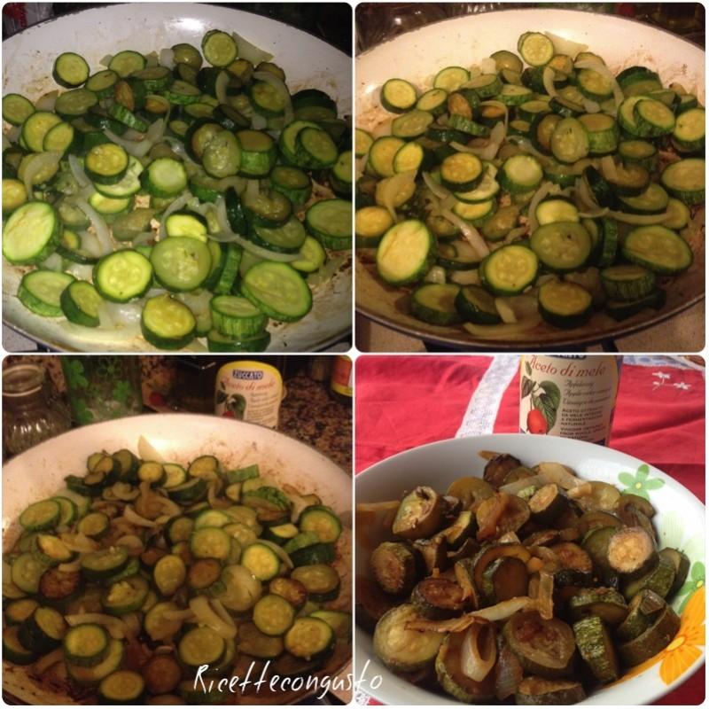 Zucchine e cipolle all'aceto di mele